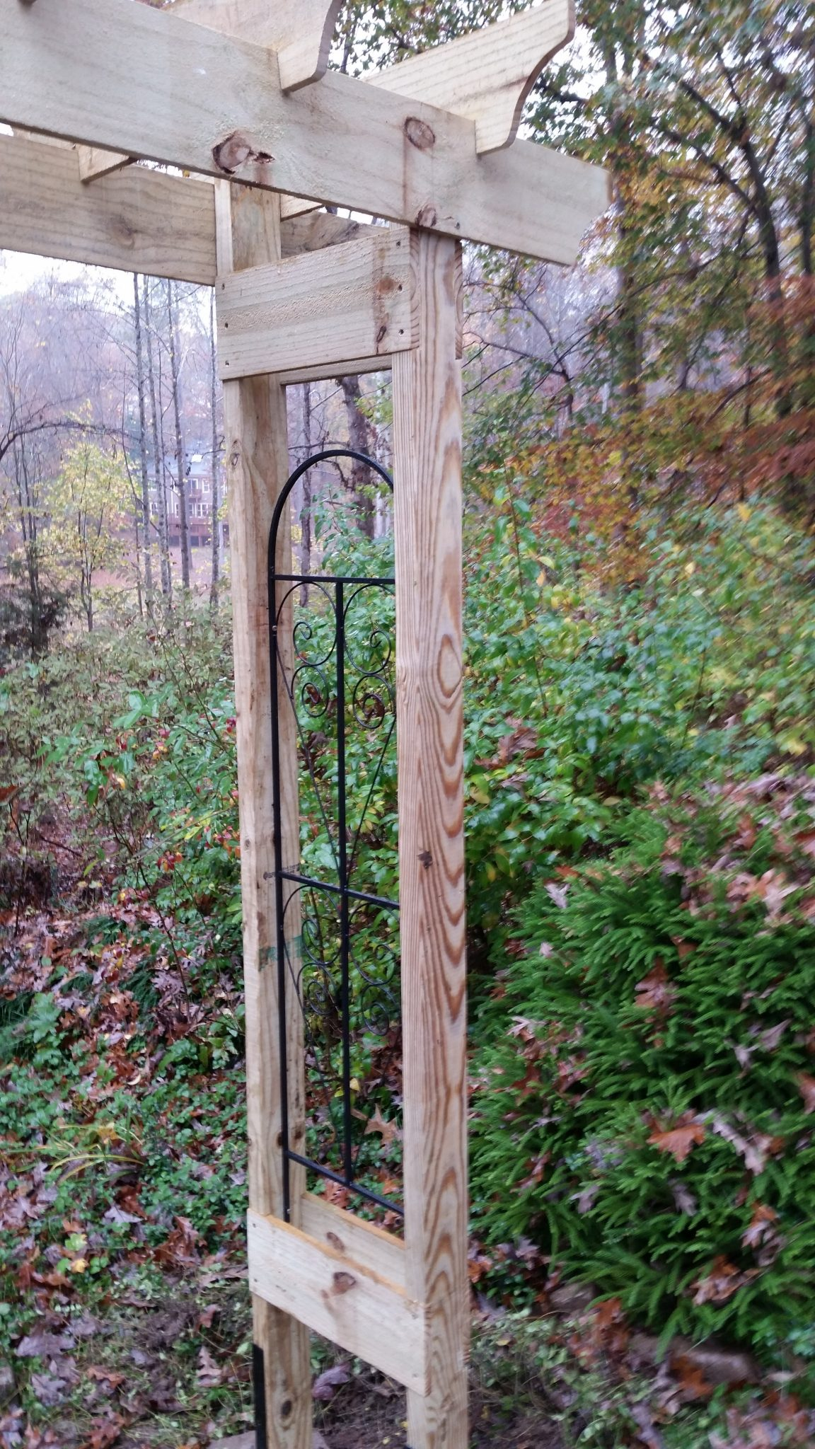 How to build a rustic 6 garden arbor