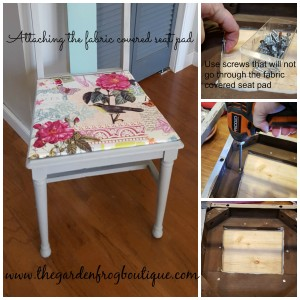 Sometimes you just have to paint that dining room chair and cover the seat with pretty fabric