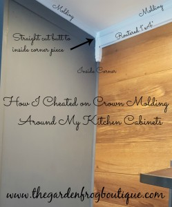 Crown Molding cheat on kitchen cabinet
