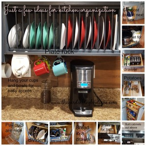 Kitchen makeover on a tight budget with a few organition tips