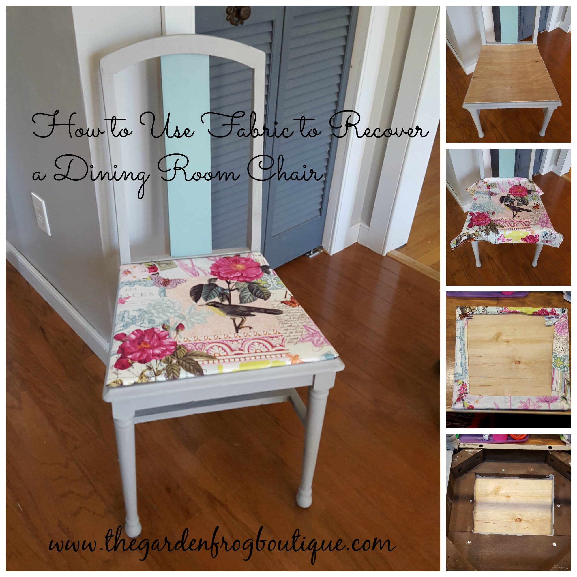 How To Use Fabric Recover A Dining Room Chair