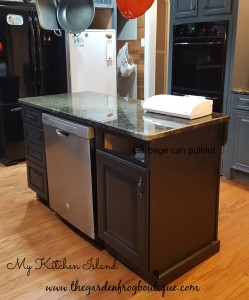 Kitchen Makeover on a Tight Budget, hiding your garbage can in a cabinet