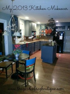 Kitchen Makeover 2013 with homemade chalk paint to cover up mismatched cabinets