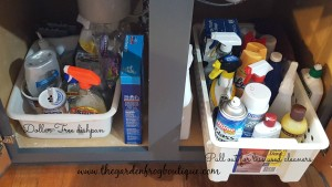 3 Kitchen Organizing Tips for Garbage, Recycling, and Cleaning supplies