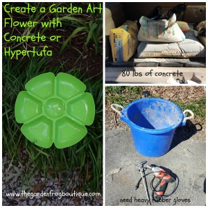 Create a Garden Art Flower with Concrete or Hypertufa and decorative stepping stone idea