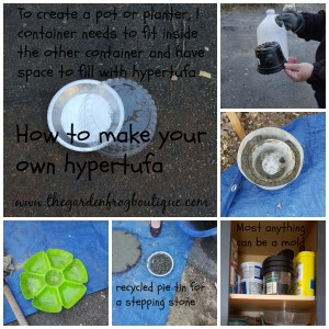 How to make hypertufa and some ideas for molds