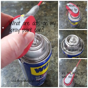 What is the mark on top of a spray can for? How do you get all the product out of a spray can?