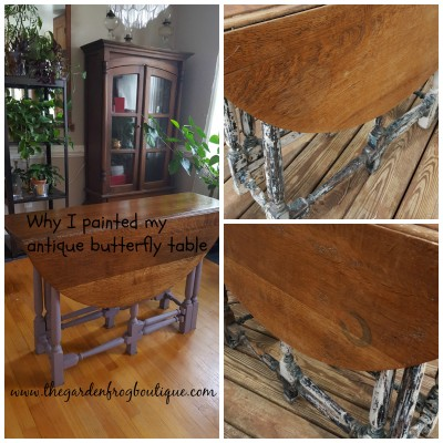 Why I Painted My Antique Butterfly Table
