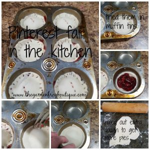 Pinterest fail in the kitchen #1, muffin tin pies