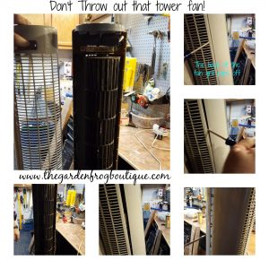 Don't throw away that tower fan, clean and lube fan motor, removing the fan grill