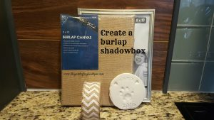 Create a burlap shadowbox from a burlap stretched canvas