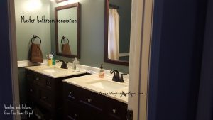 Master Bathroom Renovation, The Home Depot Vanities, Pergo Flooring, Pfister faucets