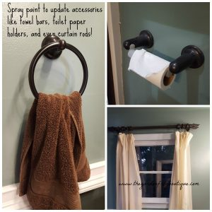 Master bathroom renovation spray paint accessories