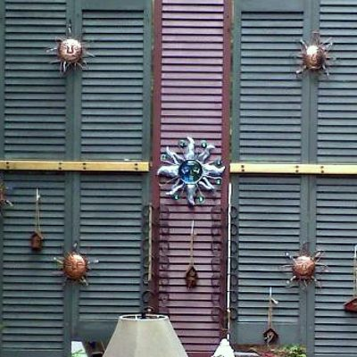 Using wood shutters for privacy on a deck