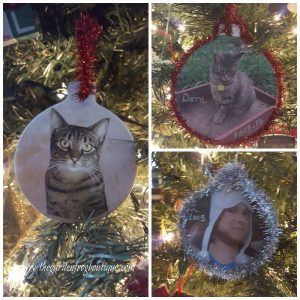 Christmas photo ornament with clay craft ornaments